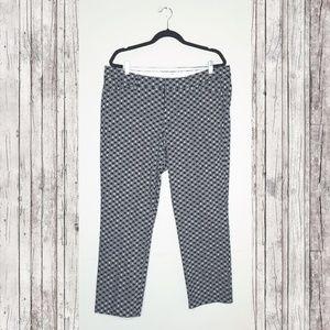 A.N.A. Black & White Geometric Ankle Pants